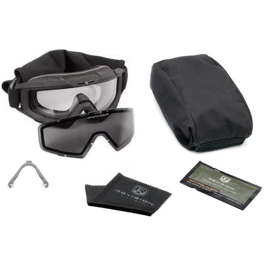 Revision Snowhawk Goggle System APEL U.S. Military Kit Black - HCC Tactical