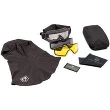 Revision SnowHawk Goggle System Deluxe Kit Black - HCC Tactical