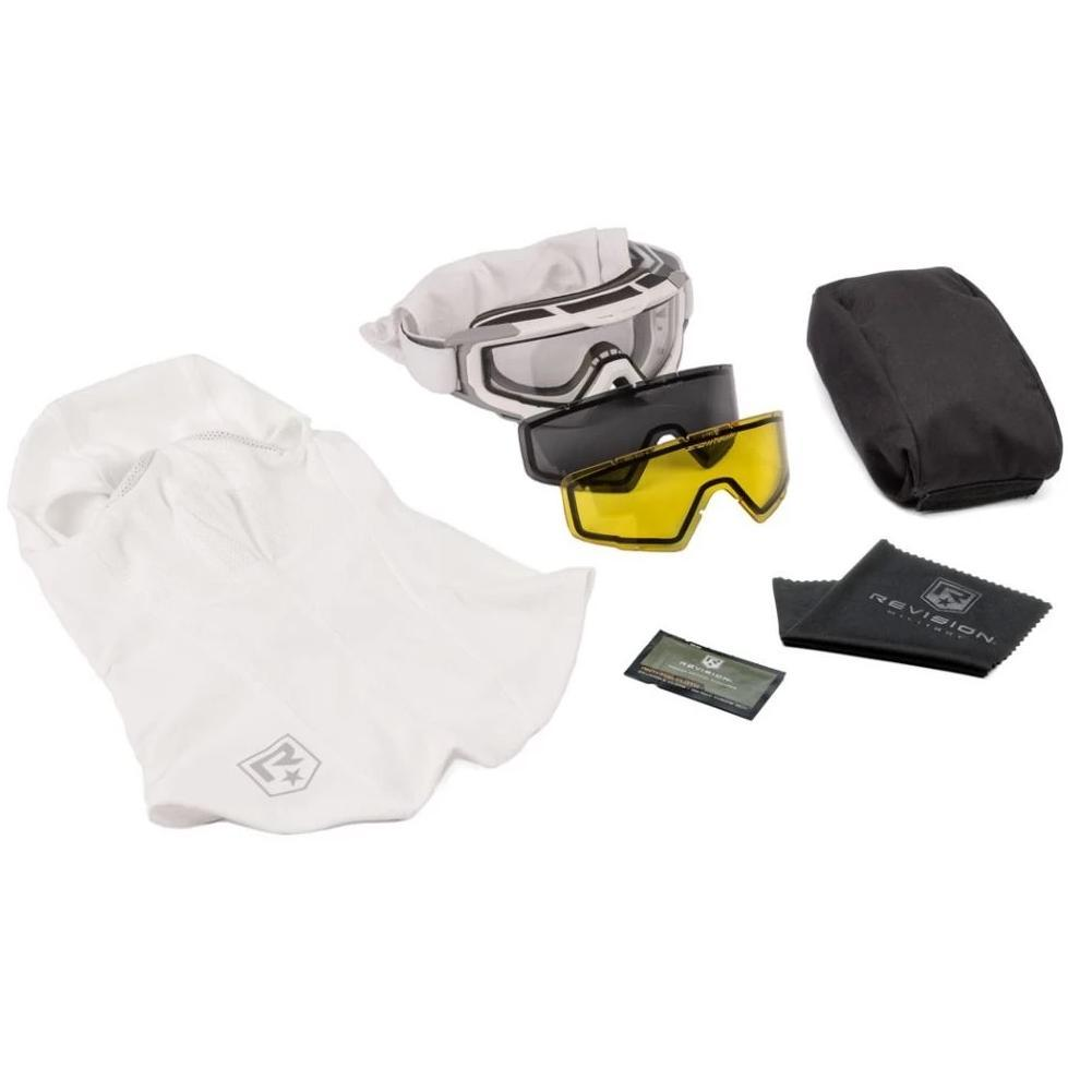 Revision SnowHawk Goggle System Deluxe Kit White - HCC Tactical