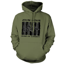 Military Green; Pipe Hitters Union Sons of Liberty - Join or Die - Hoodie - HCC Tactical