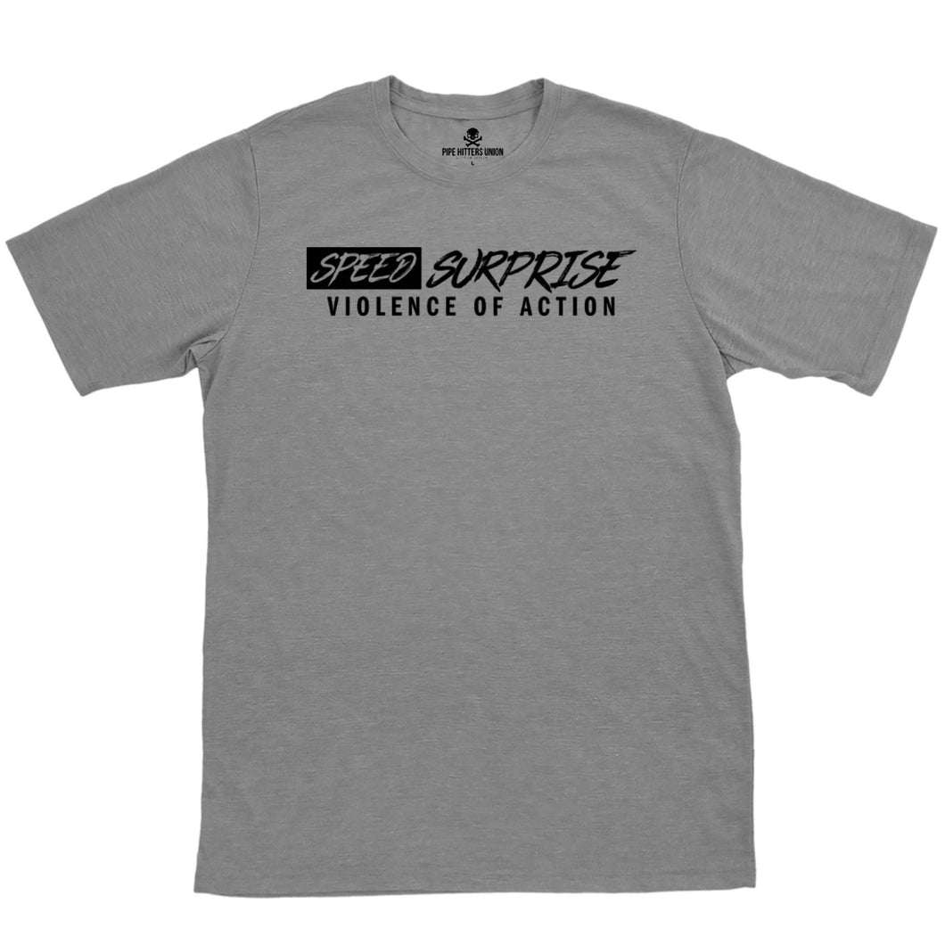 Gray; Pipe Hitters Union Speed Surprise and Violence of Action Tee - HCC Tactical