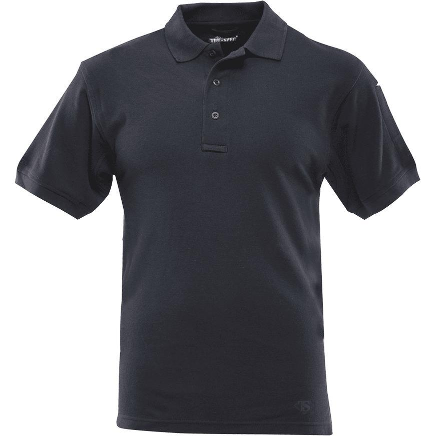 Navy; Tru-Spec SS Classic Cotton Polo - HCC Tactical