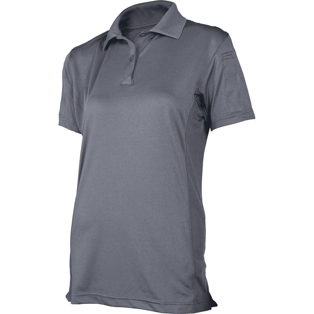 Gray; Tru-Spec SS ECO Tec Polo for Women - HCC Tactical