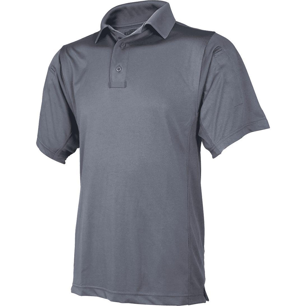 Steel Gray; Tru-Spec SS ECO Tec Polo - HCC Tactical