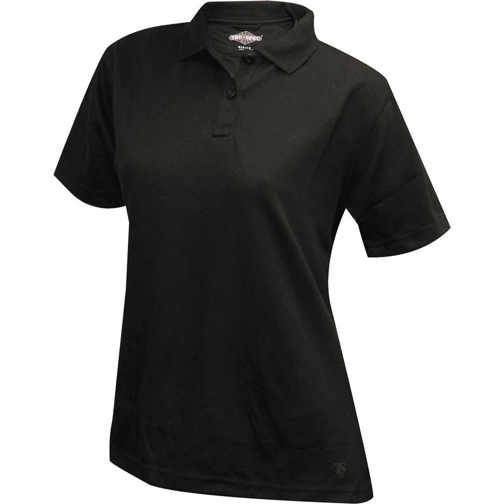 Black; Tru-Spec SS Performance Polo for Women - HCC Tactical