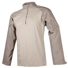 Khaki; Tru-Spec Tactical Response 1/4 Zip Combat Shirt - HCC Tactical