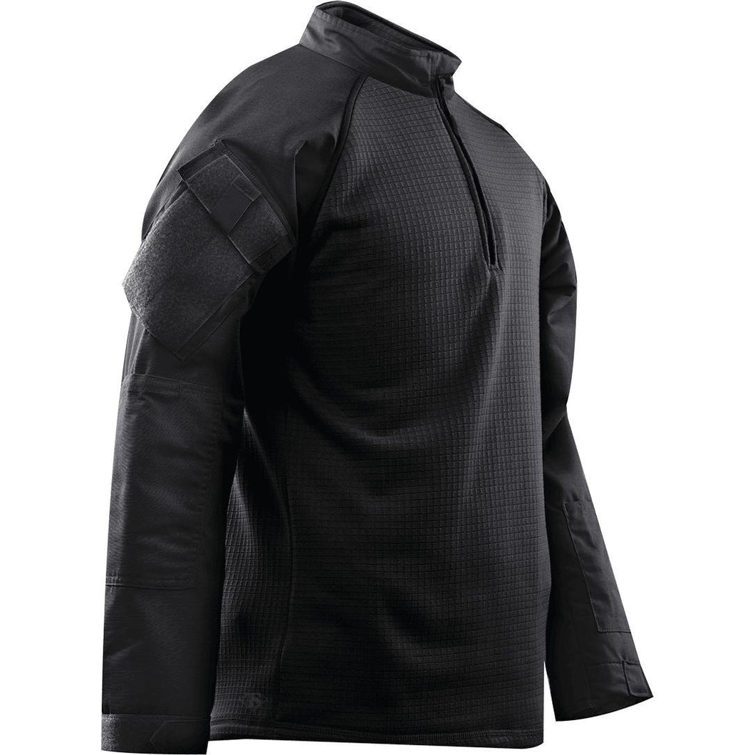 Black; Tru-Spec Tactical Response 1/4 Zip Winter Combat Shirt - HCC Tactical