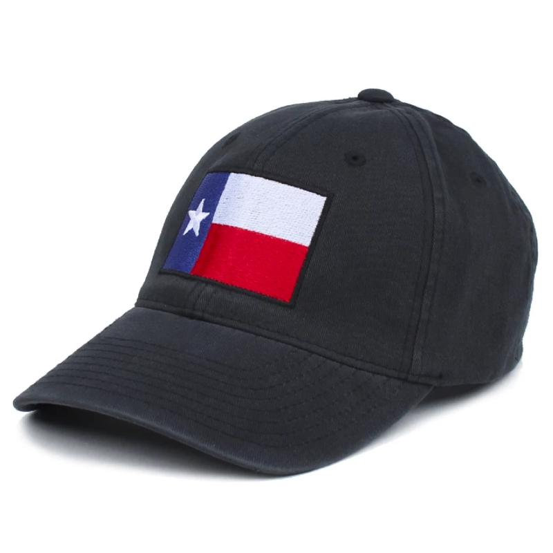 Black; Pipe Hitters Union Texas Flag Hat Swatch - HCC Tactical
