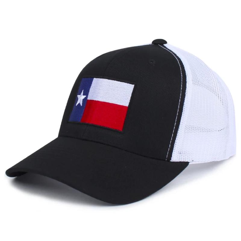 Black / White; Pipe Hitters Union Texas Flag Trucker Hat - HCC Tactical