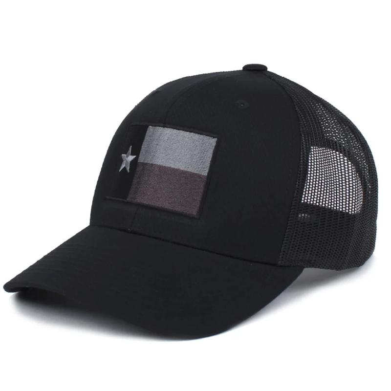 Black; Pipe Hitters Union Texas Flag Trucker (Subdued) Hat - HCC Tactical