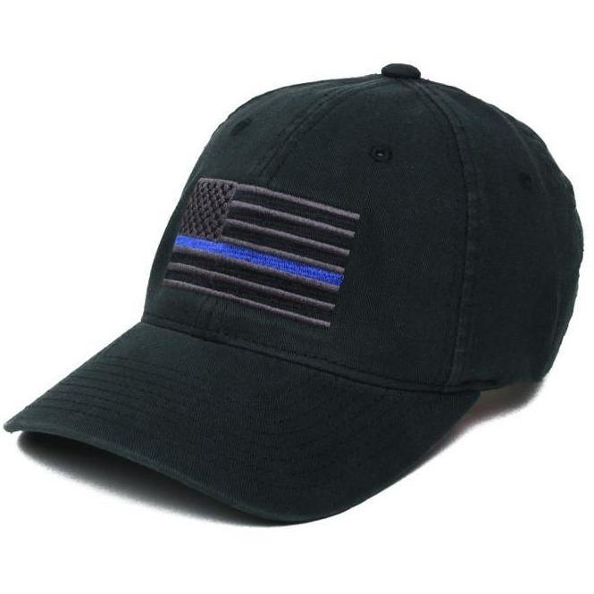 Black / Blue; Pipe Hitters Union Thin Line Flexfit Hat - HCC Tactical