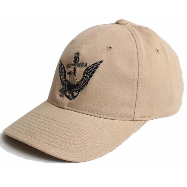 Khaki; Pipe Hitters Union US Navy Eagle Anchor Flexfit Hat - HCC Tactical