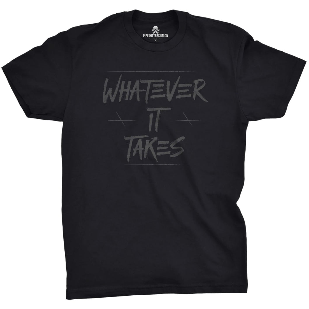 Black / Gray; Pipe Hitters Union Whatever It Takes Tee - HCC Tactical
