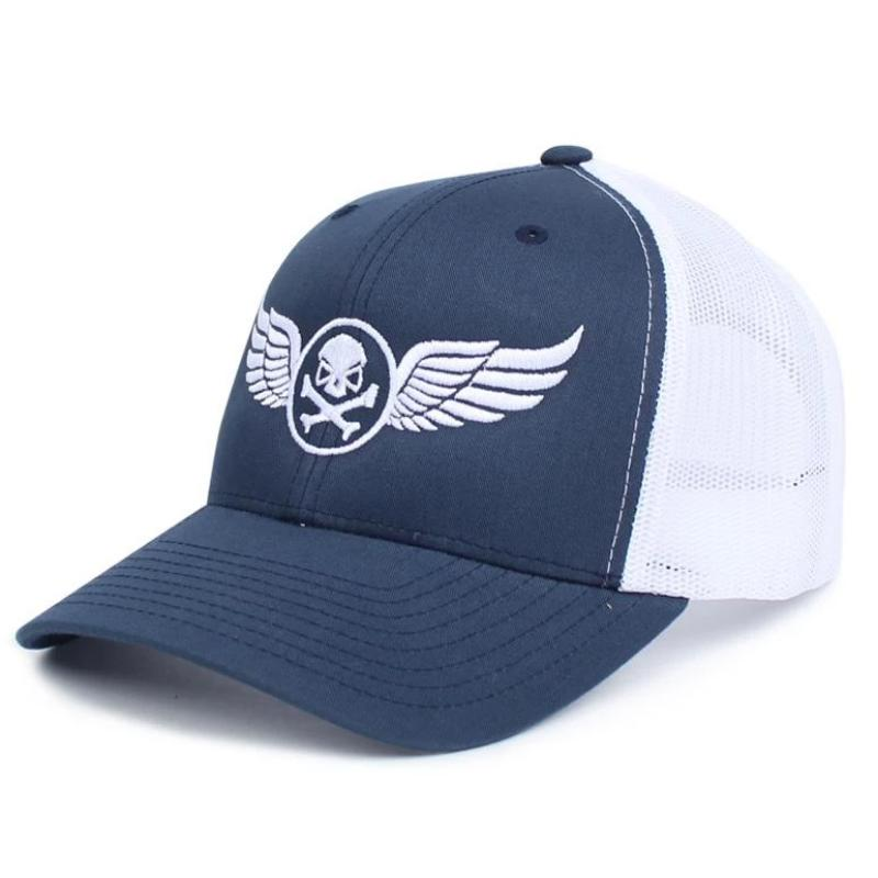 Navy Blue / White; PHU Wings Trucker Hat - HCC Tactical