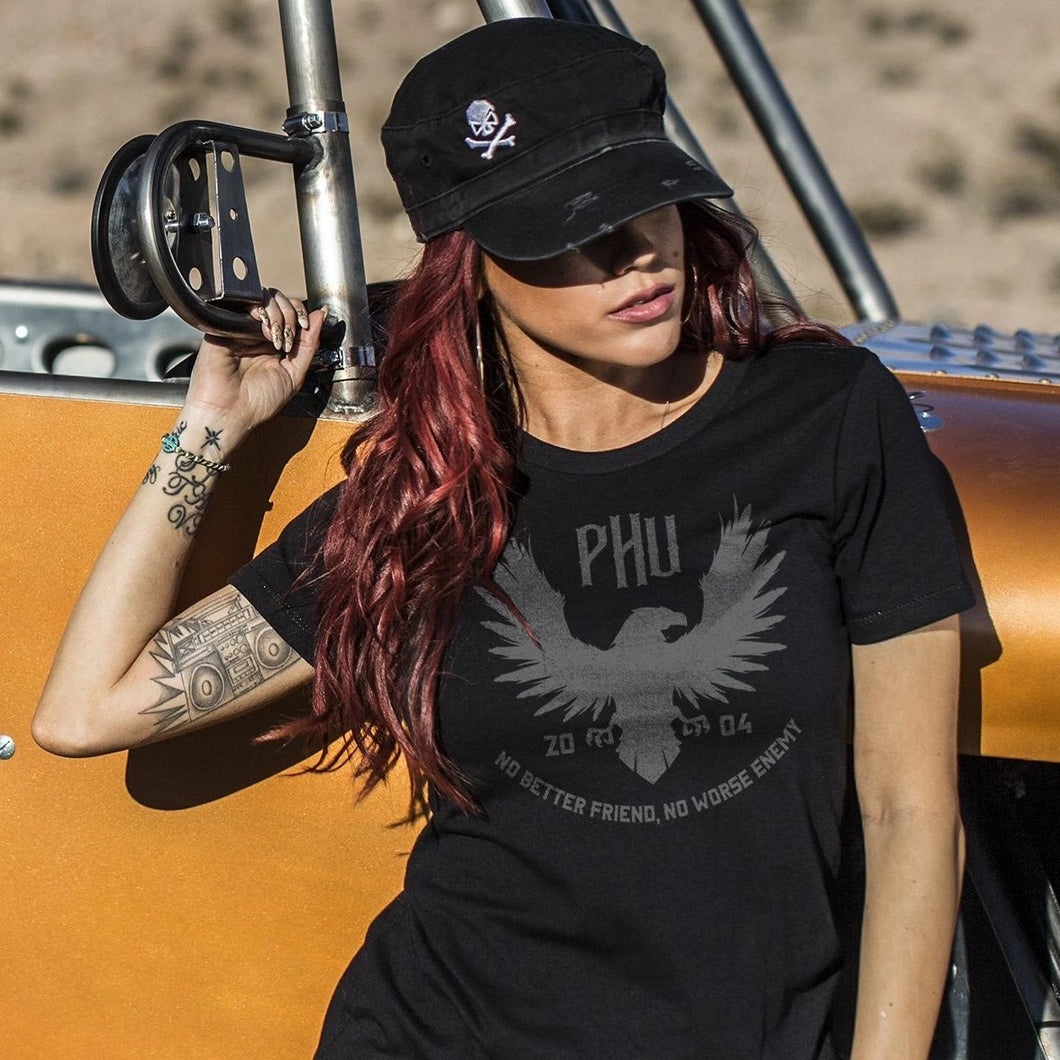 Black; Pipe Hitters Union Women's Eagle Tee - HCC Tactical