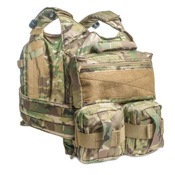 alt - MultiCam; HRT Tactical Zip-On Dual Removable GP Pouches - HCC Tactical