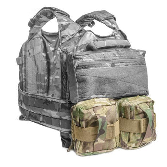 MultiCam; HRT Tactical Zip-On Dual Removable GP Pouches - HCC Tactical