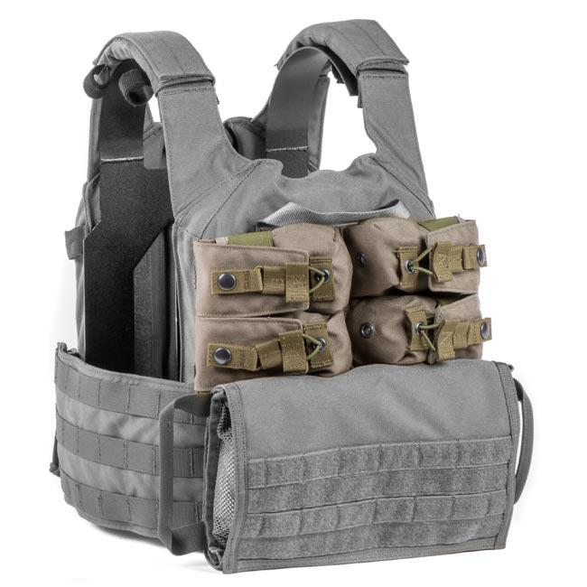 MultiCam; HRT Tactical Zip-On Horizontal Quad Flashbang Pouch - HCC Tactical