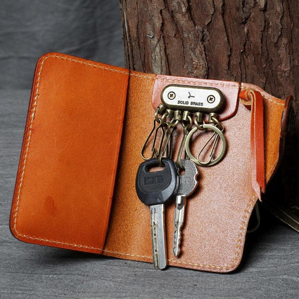 Key Holders, Leather Key Cover, Leather Key Case, Keywallet, Leather Key Holders, Key Holder OAK-032 - Leajanebag