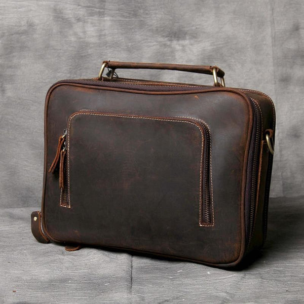 Handmade Leather Briefcase, Leather Shoulder Bag, Leather Business Bag, Laptop Bag OAK-041 - Leajanebag