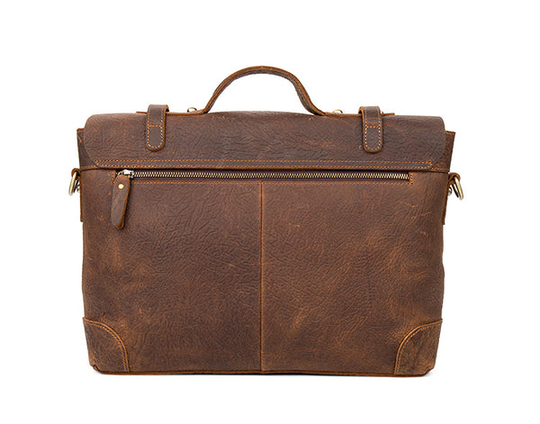 Mens Business Bag,Leather Briefcase,15 inch laptop bag, Cross Body Bag,Laptop Bag 0342 - Leajanebag
