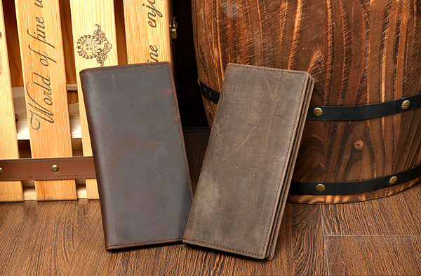 Leather Long Wallet, Mens leather wallet, Monogrammed wallet, Awesome Gift, Cash Holder MS027 - Leajanebag