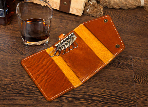 Leather Key Holders, Leather Key Cover, Leather Key Case, Key Wallet, Key Holders MS078 - Leajanebag