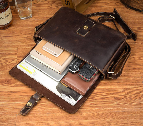 SALE, Leather Messenger Bag, Cross Body Bag, Handbag, Satchel, iPad, Shoulder Bag MS199 - Leajanebag