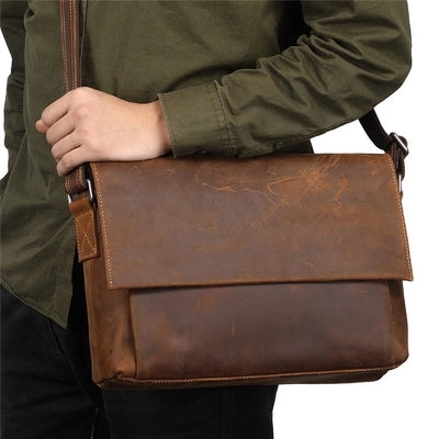 Leather Messenger bag, laptop bag,Brown, Leather ,Messenger Bag, Shoulder Bag, Leather Satchel, Leather Briefcase GS004 - Leajanebag
