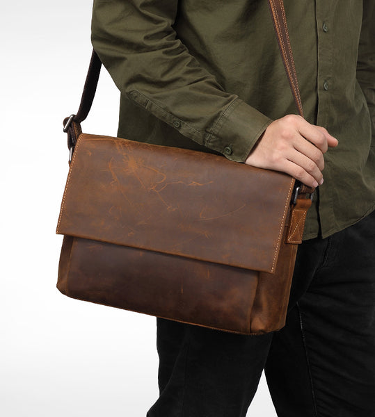 Leather Messenger bag, laptop bag,Brown, Leather ,Messenger Bag, Shoulder Bag, Leather Satchel, Leather Briefcase GS004