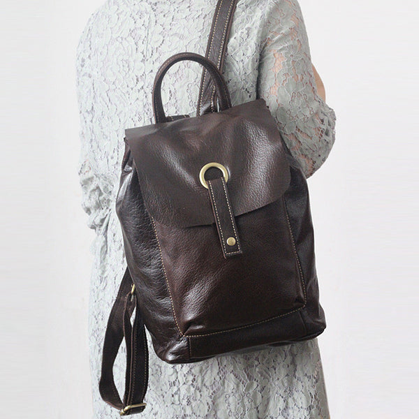 Handcrafted LEATHER BACKPACK, Handcrafted leather Rucksack,Hand Made Leather Backpack GS014 - Leajanebag