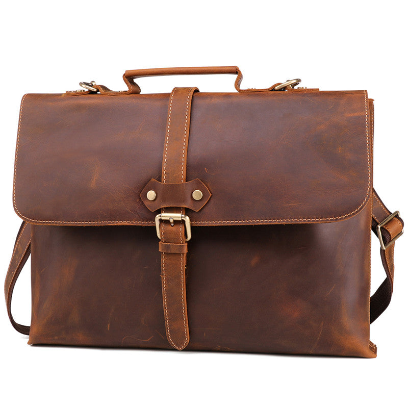 b3d4eb94cbcc Mens leather briefcase