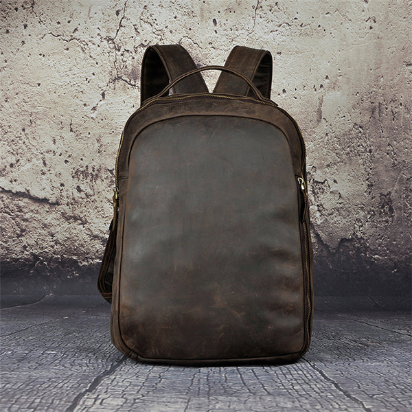 Personalized Leather Backpack, Travel Leather Backpack, Handmade Backpack,School Bag GS021 - Leajanebag