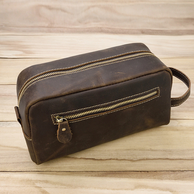 58a79d5a7291 Leather Toiletry Bag, Handmade Leather Dopp Kit, Mens Leather Toiletry Bag,  Groomsmen Gift, Travel Wash Bag - Coffee