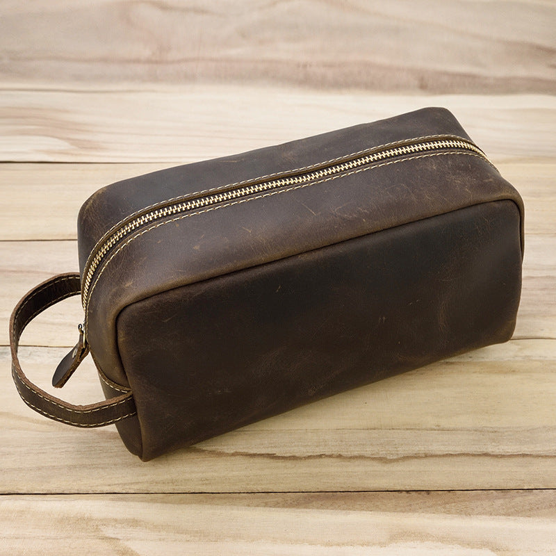 Leather Toiletry Bag, Handmade Leather Dopp Kit, Mens Leather Toiletry Bag,  Groomsmen Gift, Travel Wash Bag - Leajanebag