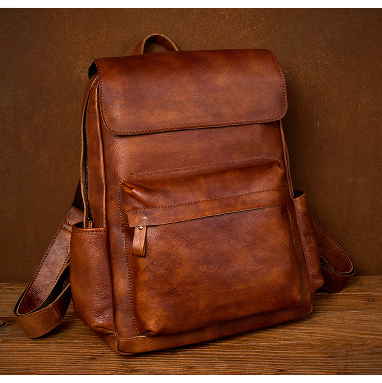 Handmade Leather Backpack, Xmas Gift, Leather Travel Backpack, School Backpack,Women's Backpack MS215