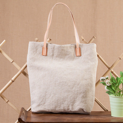 Canvas Leather Shoulder Bag, Women Weekend Bag, Shopping Bag YY015 - Leajanebag