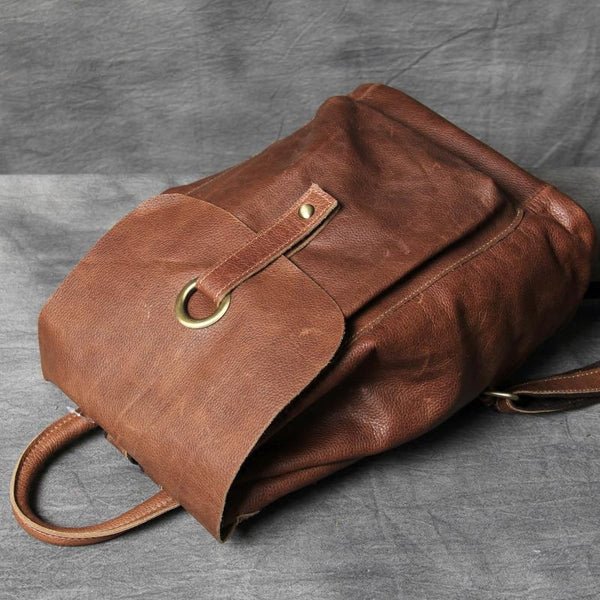 Leather Backpack,Bag and Backpack, School Backpack, Distressed Leather Backpack for School OAK-049 - Leajanebag