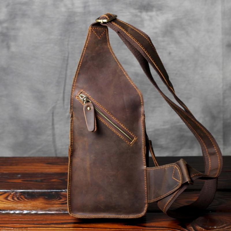 to buy new style of 2019 best prices Men Business Genuine Leather, Chest Bag, Crossbody Bag, Men's Corset  Shoulder Bags Chest Bag OAK-052