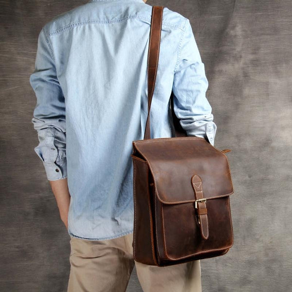 LEATHER BACKPACK, Women Backpack, Minimalist Backpack, School Style Women's Backpack OAK-027 - Leajanebag