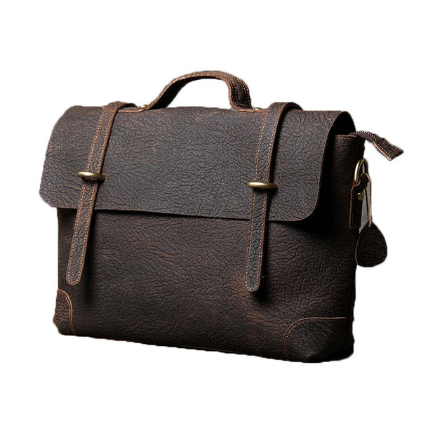 Leather Messenger Bag, Leather Briefcase, Leather Shoulder Bag, Leather Laptop Bag OAK-056 - Leajanebag