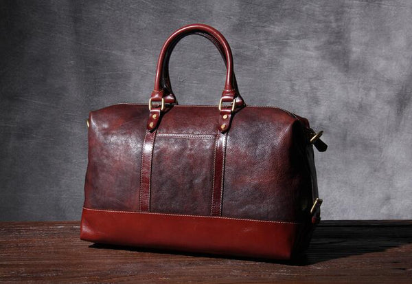 Duffle Bag, Genuine Leather Travel Bag,Handmade Weekend Bag  OAK-077 - Leajanebag