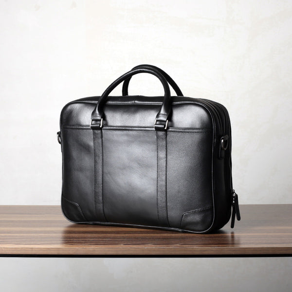 Handmade Leather Briefcase for Men, Leather Laptop Bag GZ066 - Leajanebag