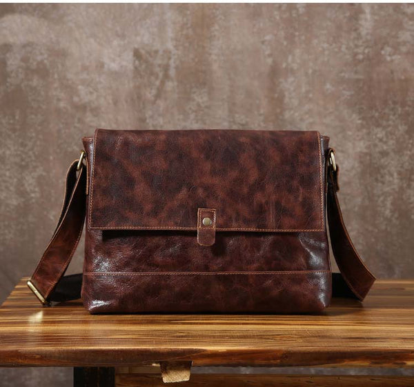 Handmade Leather Messenger Bag, Crossboday Bag, Messenger Bag GLT073 - Leajanebag
