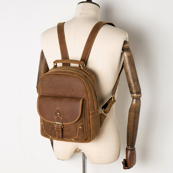 Handmade backpack, women leather backpack, hipster backpack, mens backpack, laptop backpack MS202 - Leajanebag