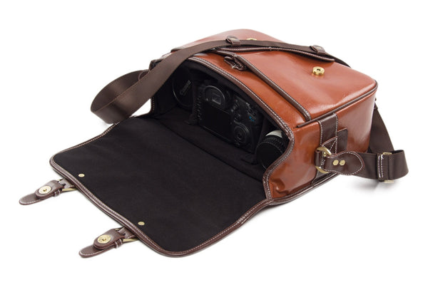 Handmade PU Leather DSLR Camera Bag SLR Camera Case 1356 - Leajanebag