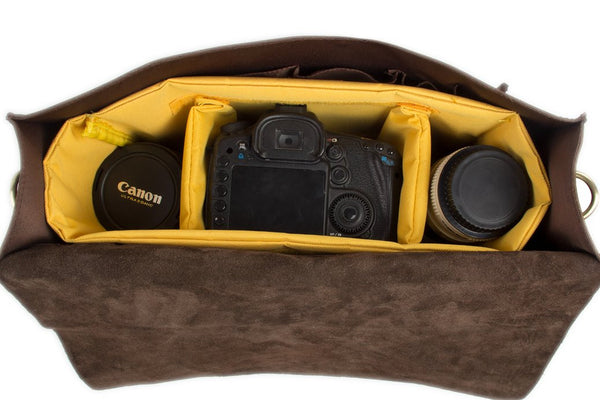 Handmade Genuine Leather DSLR Camera Bag Leather SLR Camera Holder 7145 - Leajanebag