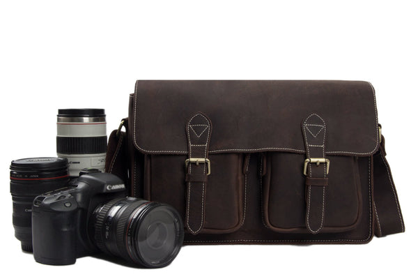 Handmade Genuine Leather Camera Case, DSLR Bag 6915 - Leajanebag