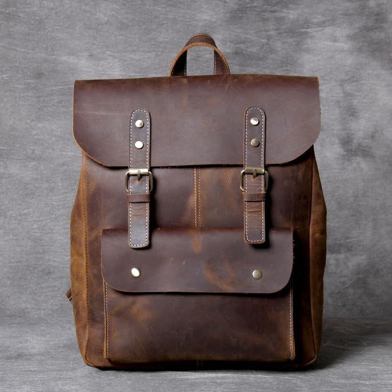 Leather Backpack for School, Travel Backpack, School Backpack GZ071 - Leajanebag