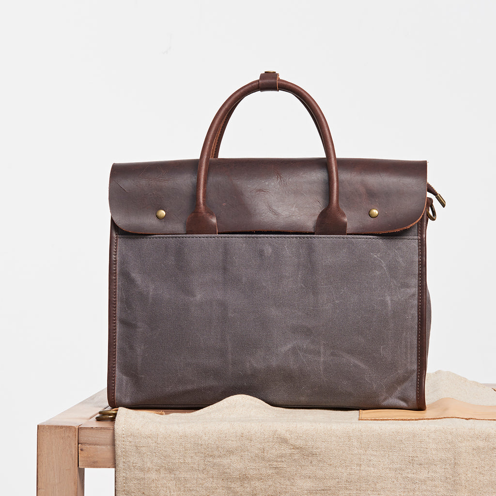 Leather Canvas Bag, Laptop Bag, Business Bag NX005 - Leajanebag